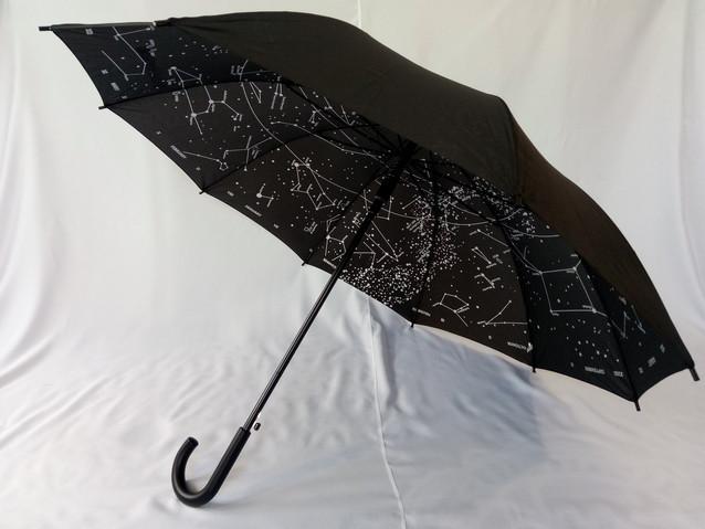 Чорний парасольку тростину зоряне небо 10 спиць