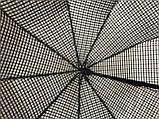 Мужской зонт с двойной тканью в клетку под куполом плуавтомат, фото 3
