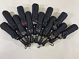 Мужской зонт с двойной тканью в клетку под куполом плуавтомат, фото 5