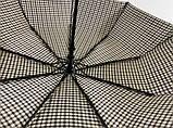 Мужской зонт с двойной тканью в клетку под куполом плуавтомат, фото 6