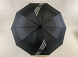 Чёрный зонт с выворотным механизмом сложения 10 спиц  унисекс, фото 4