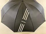 Чёрный зонт с выворотным механизмом сложения 10 спиц  унисекс, фото 6