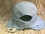 Шляпка панама из  льна с регулировкой размера цвет голубой, фото 2