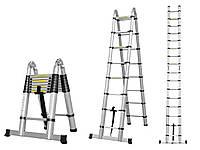 Стремянка трансформер СТЕНЛИ. Высота-3.8 Лестница алюминиевая STANLEY Лестница телескопическая раскладная.