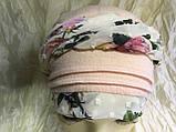 Бандана чалма з кольоровим джгутом бавовна батист колір білий, фото 2