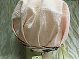 Бандана чалма з кольоровим джгутом бавовна батист колір білий, фото 3