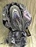Бандана-косинка бавовняна сіра з рожевим, фото 5