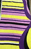 Разноцветный шарф в полоску в лёгкой жатке, фото 2