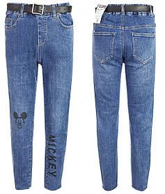 Ровные джинсы Mickey на девочку