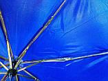 Зонт однотонный механика синий, фото 7