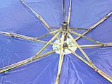 Зонт однотонный механика синий, фото 8