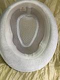 Річна капелюх Федора під чоловічий стиль тулія сітка 58 розмір колір білий, фото 2