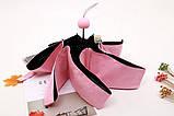 Розовый зонт 5 сложений в капсулах 6 спиц механика антиветер, фото 6