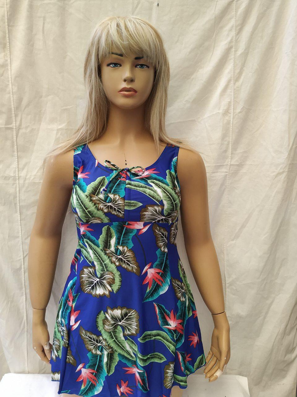 Пляжний купальник - сукня Танкіні 50-54 укр цветсиний