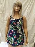 Пляжний купальник - сукня Танкіні 50-54 укр цветсиний, фото 2