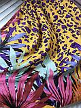 Яркий жёлтый с фиолетовым сарафан парео  с лямками, фото 2