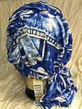Бандана-шапка-косынка с объёмной драпировкой цвет синий, фото 2