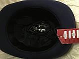 Фетровая мужская шляпа поля 5.8 см цвет оливковый 57-58 и черный, фото 4