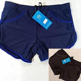Мужские шорты спортивные купальные синий 48 чёрные 48 56 маломерят