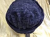 Шапка чалма демісезонна колір синій, фото 3