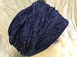 Шапка чалма демісезонна колір синій, фото 4