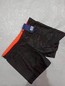 Шорты плавки мужские для купания 46 48 50 52 укр черный с оранжевым кантом