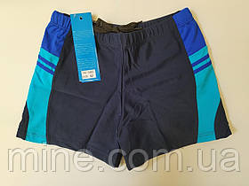 Мужские шорты для плаванья  баталы цвет синий с вставками по бокам 48  56