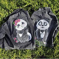 Парная одежда Джинсовые куртки для пары Ручная роспись одежды на Ваших куртках