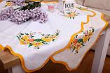 Салфетка Великодня 86-86 «Пташки» Жовтий візерунок Бежева, фото 2