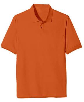 Футболка поло однотонная мужская, цвет темно оранжевый