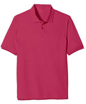 Футболка поло однотонная мужская, цвет темно розовый
