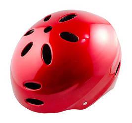 Шлем велосипедный Цветок, красный