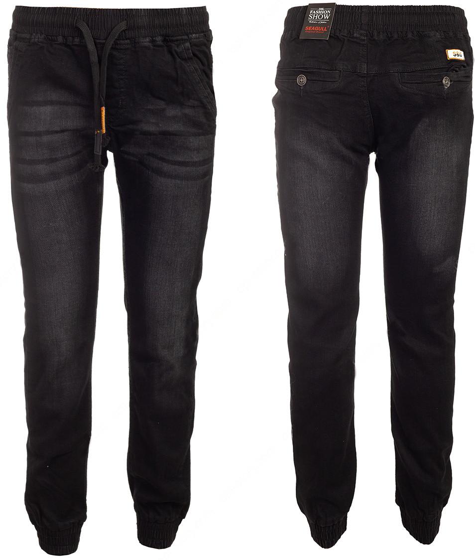 Чорні джинси на гумці для хлопчика