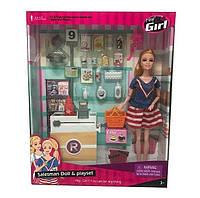 """Кукла """"Магазин продуктов"""", прилавок, продукты, аксессуары"""