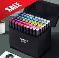 Набор двусторонних маркеров для рисования Touch Art 60 штук., фото 1