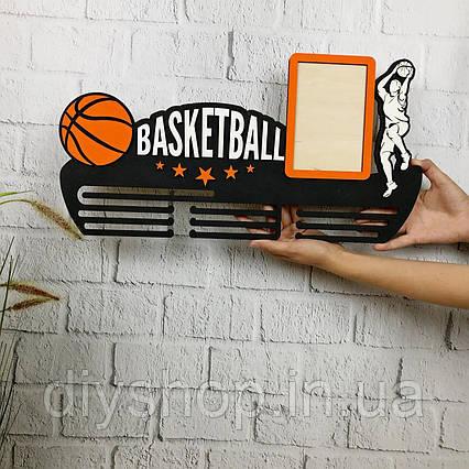 Медальница баскетбол, полка для медалей