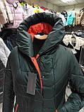 """Зимове довге пальто """"Леді"""", смарагд, фото 6"""