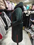 """Зимове довге пальто """"Леді"""", смарагд, фото 4"""