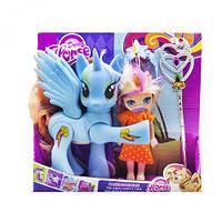"""Набор """"Dream Horse: лошадка и кукла-пони"""" (голубой) LFJ850, Набір, Ляльки, Поні, Конячки поні"""