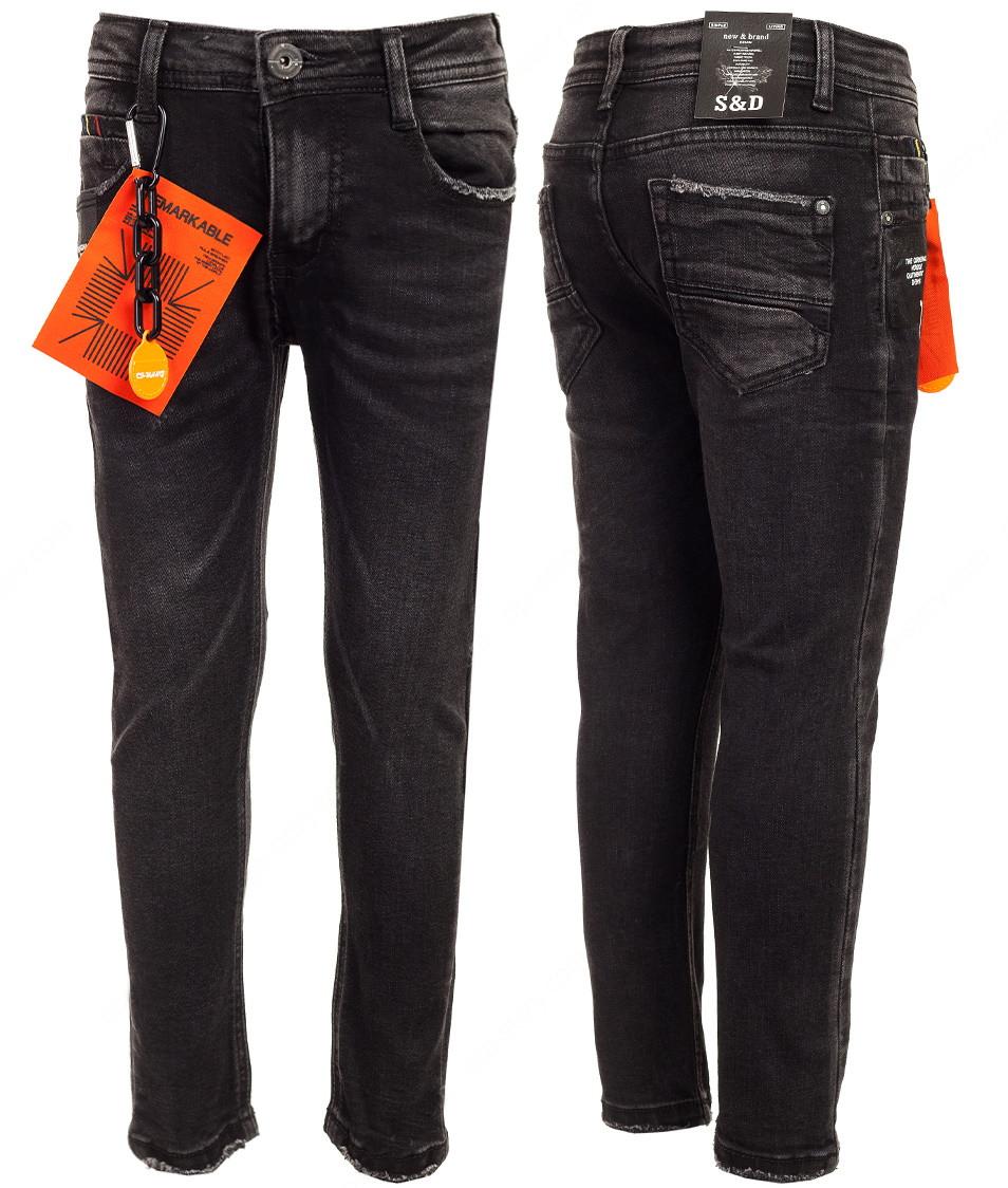 Черные прямые джинсы для мальчика