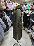 """Зимове довге пальто """"Леді"""", хакі, фото 2"""