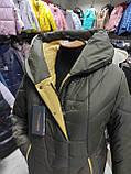 """Зимове довге пальто """"Леді"""", хакі, фото 4"""