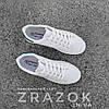 Білі літні кросівки еко шкіра шкіряні в дизайні adidas stan smith жіночі, фото 5