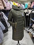 """Зимове довге пальто """"Леді"""", хакі, фото 6"""