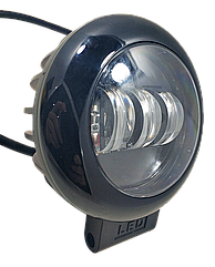 Фара LED круглая 30W (3 диода) black