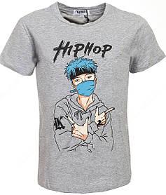 Серая футболка для мальчика HIP HOP