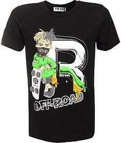 Черная футболка для мальчика