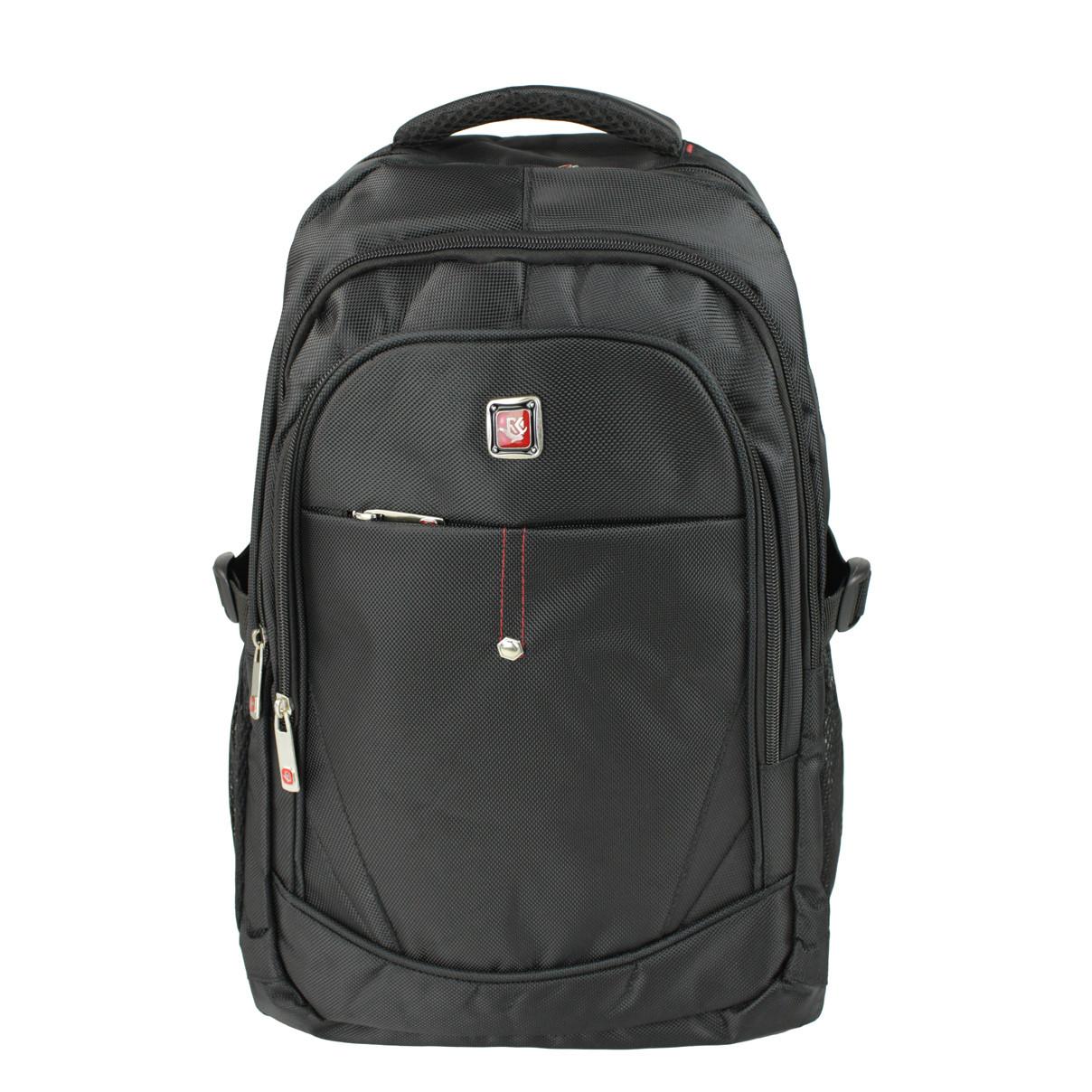 Рюкзак міський ділової повсякденний тканинний Medium чорний