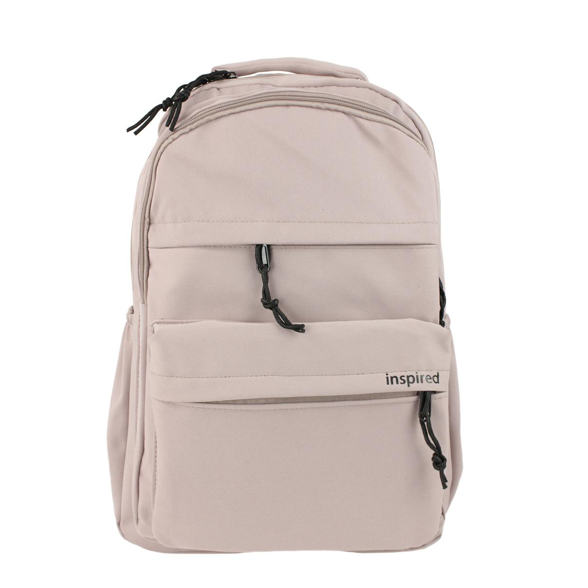 Рюкзак жіночий міський колір пудри тканинний Inspired пудровий