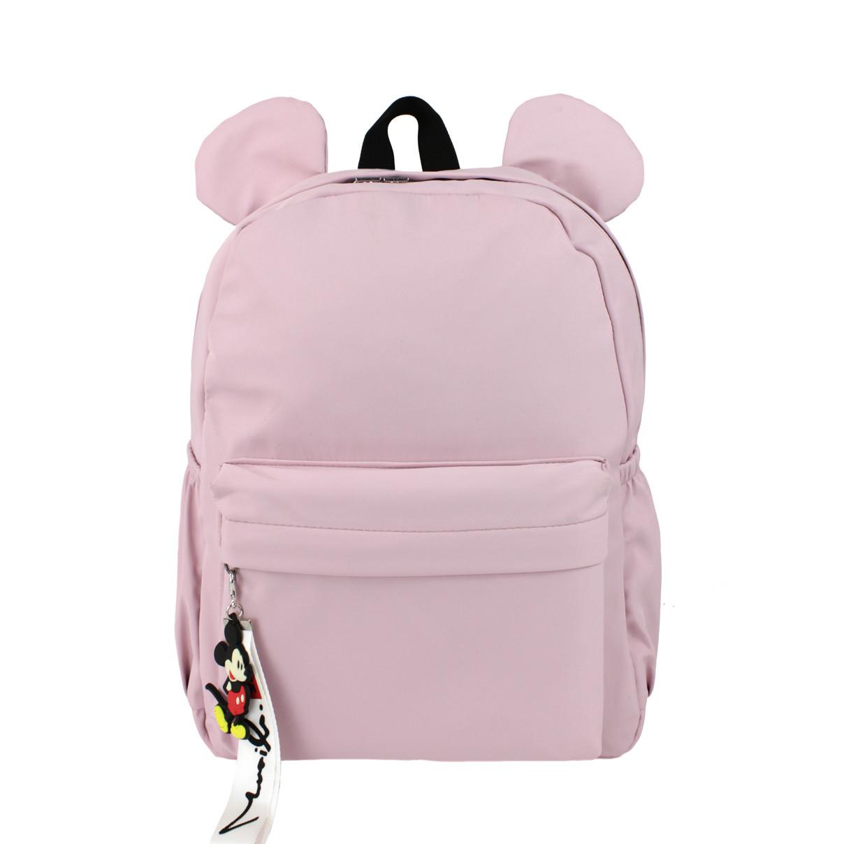 Дитячий Рюкзак для дівчаток тканинний Вушка рожевий (716815)